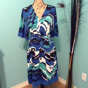 BCBGMaxazria faux wrap dress.